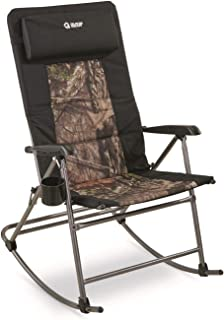 Guide Gear Oversized Rocking Camp Chair, 500-lb. Capacity, Mossy Oak Break-Up Country
