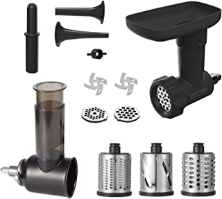 Food Slicer Shredder & Meat Grinder Attachment Pack for KitchenAid Stand mixer, with Sausage Filler Tube,Work as Salad Maker & Food Processor Grater by Innomoon
