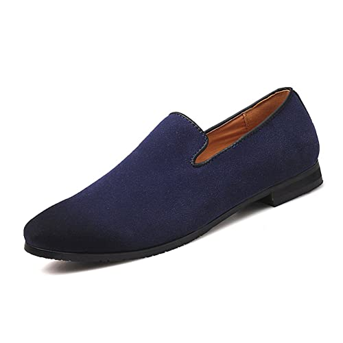 3d7c89df491 MoreDays Men s Slip on Loafers PU Leather Noble Comfortable Pure Color  Fashion Driving Boat Moccasins Casual