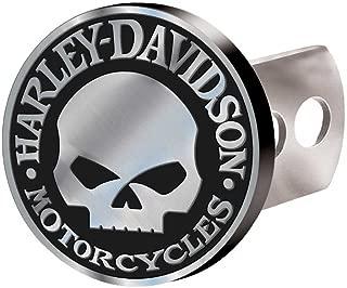 Harley-Davidson Hitch Cover, Willie G Skull Hitch Plug, Brushed Silver 2283