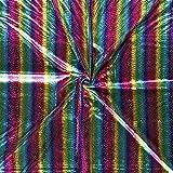 11,90€/m Stoff Lamé Regenbogenfarben Meterware  