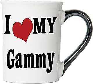 Cottage Creek Gammy Mug Large 18 Ounce Ceramic I Love My Gammy Coffee Mug/Gammy Gifts Grammy Grandma Mugs [White]