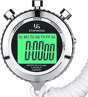 LAOPAO Cronómetro, impermeable diario con función de luz y modo de silencio para deportes al aire libre