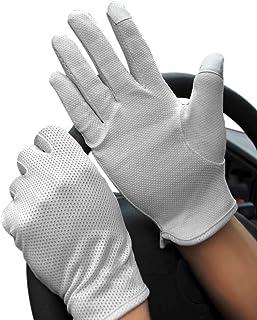 JINTN Men Boys Summer Non-Slip Driving Gloves UPF50+ UV Protection Gloves Sunblock Outdoor Golf Gloves for Bike-Riding Hik...