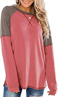 GAGA Women Tops Long Sleeve Shirts Casual Round Neck Blouse T-Shirt Top