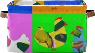 Panier de rangement décoratif en forme de poulet Renateandtheanthouse - Avec poignée - Pour ranger des vêtements, des livr...