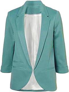 2bed3feb8b518 Minetom Femme Élégant Blazer à Manches Longues Slim Fit OL Veste De Costume  Basique Ajusté Manteau