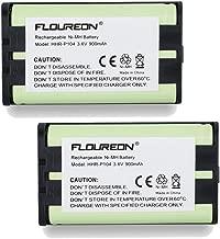 FLOUREON 2Packs Home Phone Battery For Panasonic HHR-P104, HHR-P104A, KX-FG6550, KX-FPG391, KX-TG2302, KX-TG2303, KX-TG2312, KX-TG2355W, KX-TG2356B, KX-TG2356BP, KX-TG2356S, KX-TG2356W, KX-TG2357B, KX