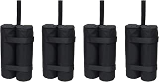 Just Relax 4-Piece Universal Weight Bags and Anchor Set, Black, Great for Canopy Tents, Gazebos and Any Outdoor Event, Includes Metal Stakes
