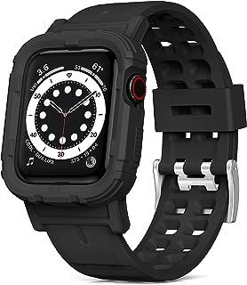 YASPARK Pasek kompatybilny z Apple Watch 38 mm 40 mm 42 mm 44 mm, w pełni zabezpieczony odporny na wstrząsy pasek z osłoną...