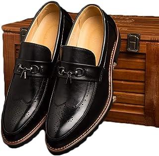 [GoldFlame-JP] ドライビングシューズ メンズ ビットローファー スリッポン レザー ビット付き ウイングチップ メダリオン 通気性 ローヒール 抗菌防臭 履きやすい 通勤用 オフィス 紳士靴 革靴 春 夏
