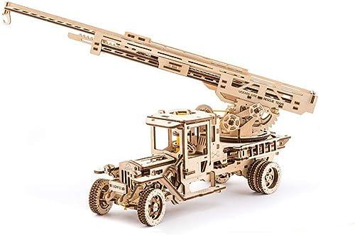 LSQR WL1004 3D DIY Puzzle Holz Mechanische übertragung Brandbek fung LKW Holz Puzzle Spiel Montage Spielzeug Geschenk für Kinder Teens Erwachsene