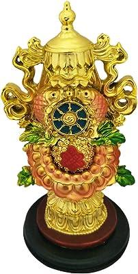 Divya Mantra Feng Shui Chinese Rashi & Tibetan Efficacious Protection Nepal Buddhism Eight 8 Auspicious Good Luck Symbols Prayer Statue