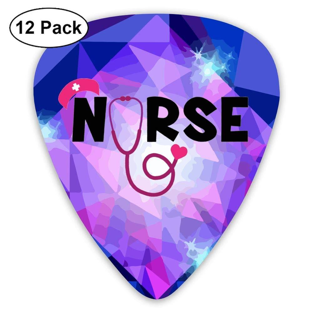 Nurse Stethoscope Love Logo 351 Shape Classic Picks 12 Pack For Electric Guitar Acoustic Mandolin Bass: Amazon.es: Instrumentos musicales