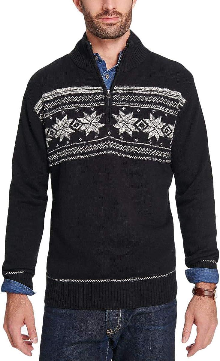 Weatherproof Mens Snowflake Knit Pullover Sweater