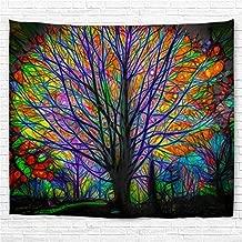 Tapisseries D/écorativesTapisserie darbre Color/é Tapisserie Psych/éd/élique Mandala Boh/émienne D/écoration Salon ou Chambre 180x200cm