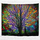 Amknn Tapeten, dekorativ, Wandteppich, Baum, Bunt,