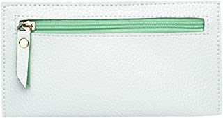 Everpert Women Long Clutch Litchi Pu Leather Zipper Coin Phone Wallets/Light Green