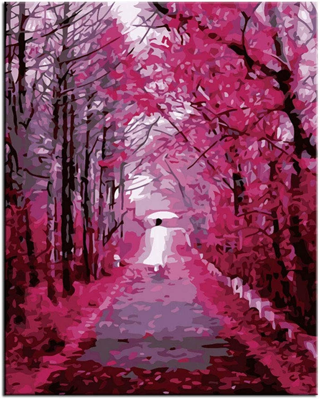 JOGTDVF Haupt de korationanstrich Herbst Wandbilder Malen nach Zahlen Malen DIY Home Decor Wandmalerei