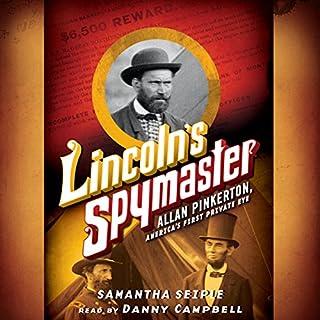 Lincoln's Spymaster audiobook cover art
