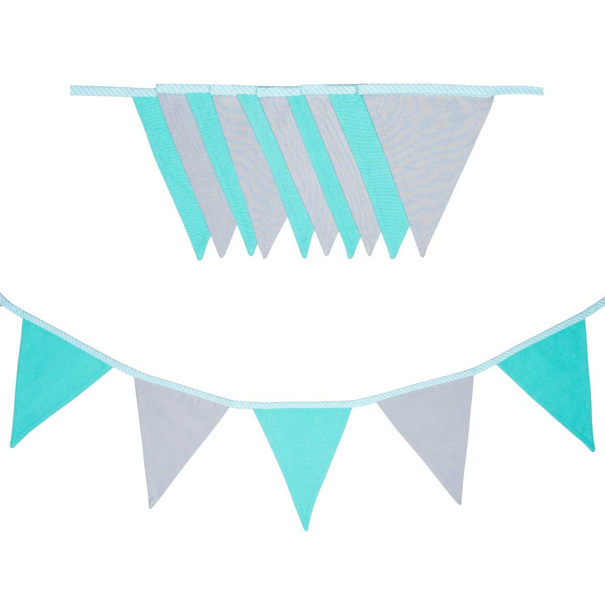 cozydots - Guirnalda de banderines de Doble Cara, Guirnalda de Tela, guirnaldas Coloridas para Decorar la habitación de los niños, decoración de Fiestas (grey boy, 235): Amazon.es: Hogar