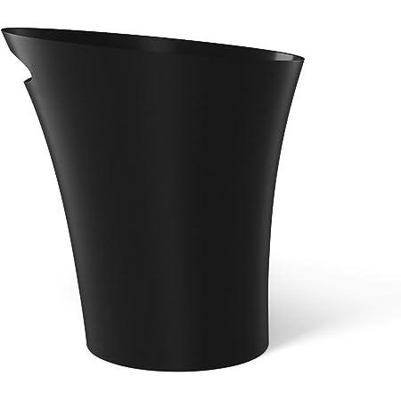 UMBRA Skinny Can. Corbeille Skinny. 7.5L dimension 34x17x33cm. En plastique moulé, coloris noir mat.