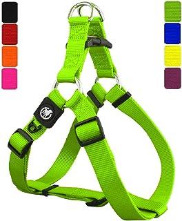 DDOXX Arnés Perro Step-In Nylon, Ajustable | Diferentes Colores & Tamaños | para Perros Pequeño, Mediano y Grande | Accesorios Gato Cachorro | Verde, M