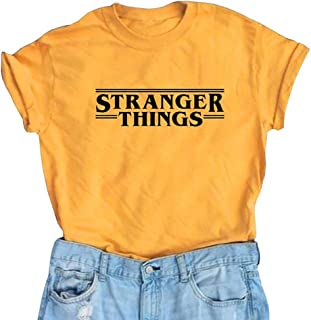 YEMOCILE Donna Stranger Things Serie TV Manica Corta Casual Maglietta T Shirt Blouse Tee Tops