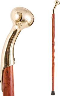 Handcrafted Wood Walking Cane - Made in the USA by Brazos - Twisted Aromatic Cedar Hame Top - 37 Inches
