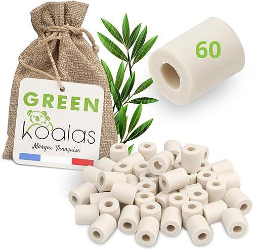 Green Koalas X60 Perles Céramique EM Grises aux Micro-Organismes Efficaces Billes Purificateur Naturel pour Filtratio...