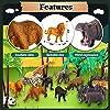 TOEY PLAY 3 in 1 Mini Animali Giocattolo con Dinosauri Giungla Fattoria per Bambini Plastica Figure Animali Set Giochi Educativi Regalo Bambino 3 4 5 Anni #2