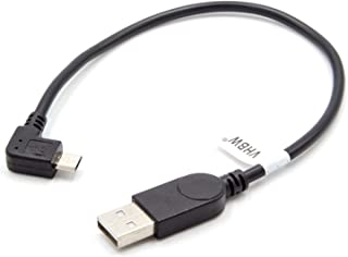vhbw Cable USB a USB Micro 0.28m Negro Angular para JBL Charge, Charge 2, Soundbox, Pulse 2