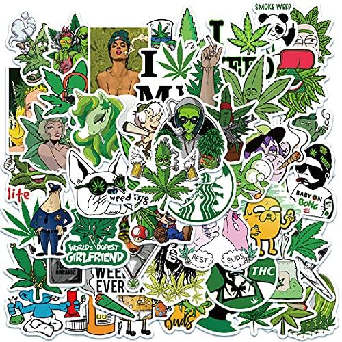 Kit Pegatinas Decorativas 100 Piezas Impermeable Lindas Pegatinas Stickers Vinilo Graffiti Pegatina Weed Calcomanías Pack de Pegatinas Paquete para Portátiles Monopatines Maletas de Viaje