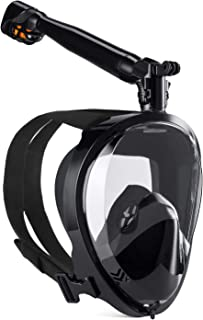 ماسک اسنوکرل سازگار با GroHoze Full Face GoPro با مشاهده پانورامای 180 درجه و سیستم پیشرفته تنفس برای غواصی و غواصی