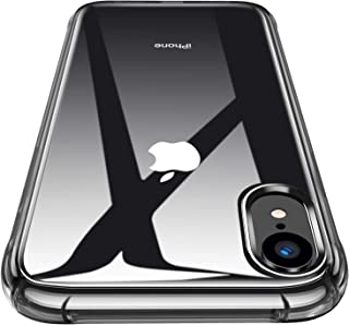 CANSHN iPhone XR Clear Case, Protective Heavy Duty Case with Soft TPU Bumper [Slim Thin] Case for iPhone XR 6.1 Inch (2018)-Black