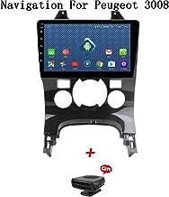 XBRMMM Android 8.1 Car Radio para Peugeot 3008 2009-2012 Car Stereo GPS Navigation 9 Pulgadas Pantalla Táctil Car Media Player Soporte Pantalla Espejo WiFi Bluetooth Control del Volante