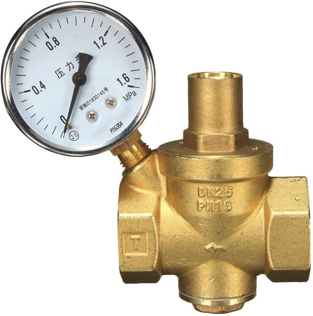 DXX-HR Bomba sumergible eléctrica DN25 válvula + Indicador de presión Medidor de caudal de agua de latón de presión de agua Reducción for piscinas, sótanos inundados, grandes estanques