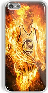 Stephen Curry Fire for iPhone and Samsung Galaxy Case (iPhone 5C white)