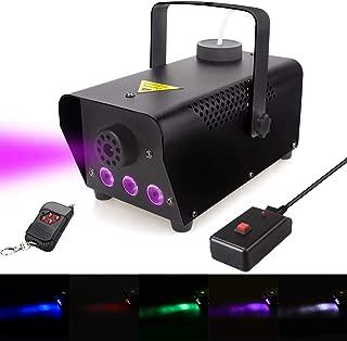 Fog Machine with lights, 400-Watt Portable Fog Machine with Wireless Remote Control, Smoke Machines for Parties Halloween Wedding Christmas DJ Dance