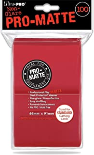 Ultra Pro 84516 Standard Pro Matte Card Sleeves 100 Pack-Red