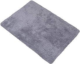 Carpet Cotton Mats Doormats Bedroom Rugs Doormats Anti-Slip Mats Bathrooms Absorbent Pads 45 * 65cm (Color : Gray)