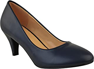 Fashion Thirsty Womens Mid Heel Court Shoes Work Office Formal Wedding