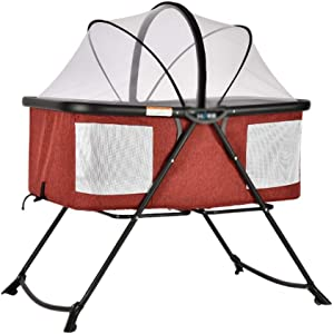 A LICE amp YEC Crib Foldable Multi-function Portable Newborn Cradle Bed Small Shaker European Travel Bed Sleeping Basket D
