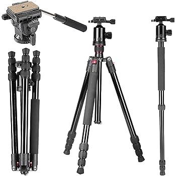 Koolehaoda KQ-666 Trípode de cámara SLR de aluminio Monopod Y ...