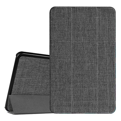 Fintie Hülle für Samsung Galaxy Tab A 10.1 2016 - Ultra Schlank Superleicht Ständer Schutzhülle mit Auto Schlaf/Wach Funktion für Samsung Galaxy Tab A 10,1 Zoll T580N / T585N, Denim dunkelgrau