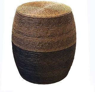Fashionable Drum Stool Rattan Stool Footstool Multipurpose Hand Weaving Breathable Home Living Room Round Tea Table Change...