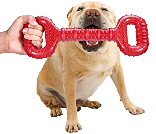 Feeko Dog Toys for Aggressive Chewers Large Breed 15 Inch Interactive Bone, Durable Indestructible Dog Toys with Convex De...