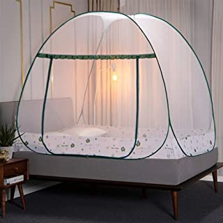 Folding Mosquito Net Canopy with Bracket Bed Tent for Room Decoration Tent Bed Curtain Home Bedroom Decor zhengpingpai (Co...