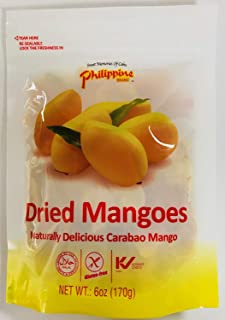 Philippine Brand Dried Mango, 6-Ounce Pouches (Pack of 2)