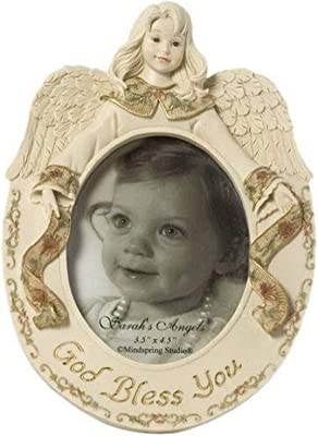 Sarah's Angels Tapestry Series, God Bless You Angel Frame, Holds 3-1/2 by 4-1/2 Inch Frame, 7-1/2 by 5-1/2-Inch